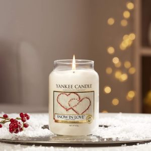 Bougie Yankee Candle snow in love defaut